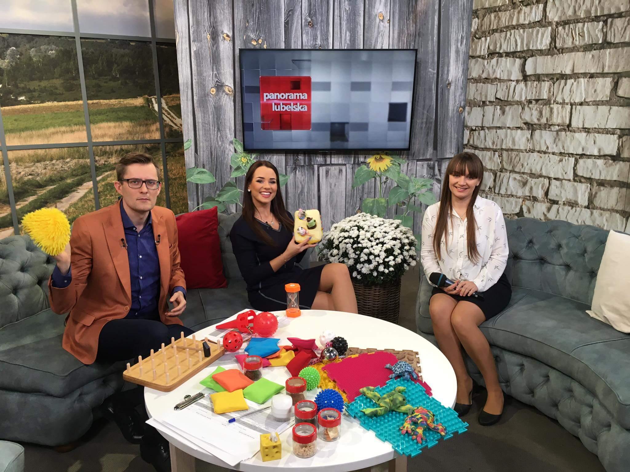 Aleksandra Kawa w Poranek między Wisłą a Bugiem emitowanego w TVP 3 Lublin