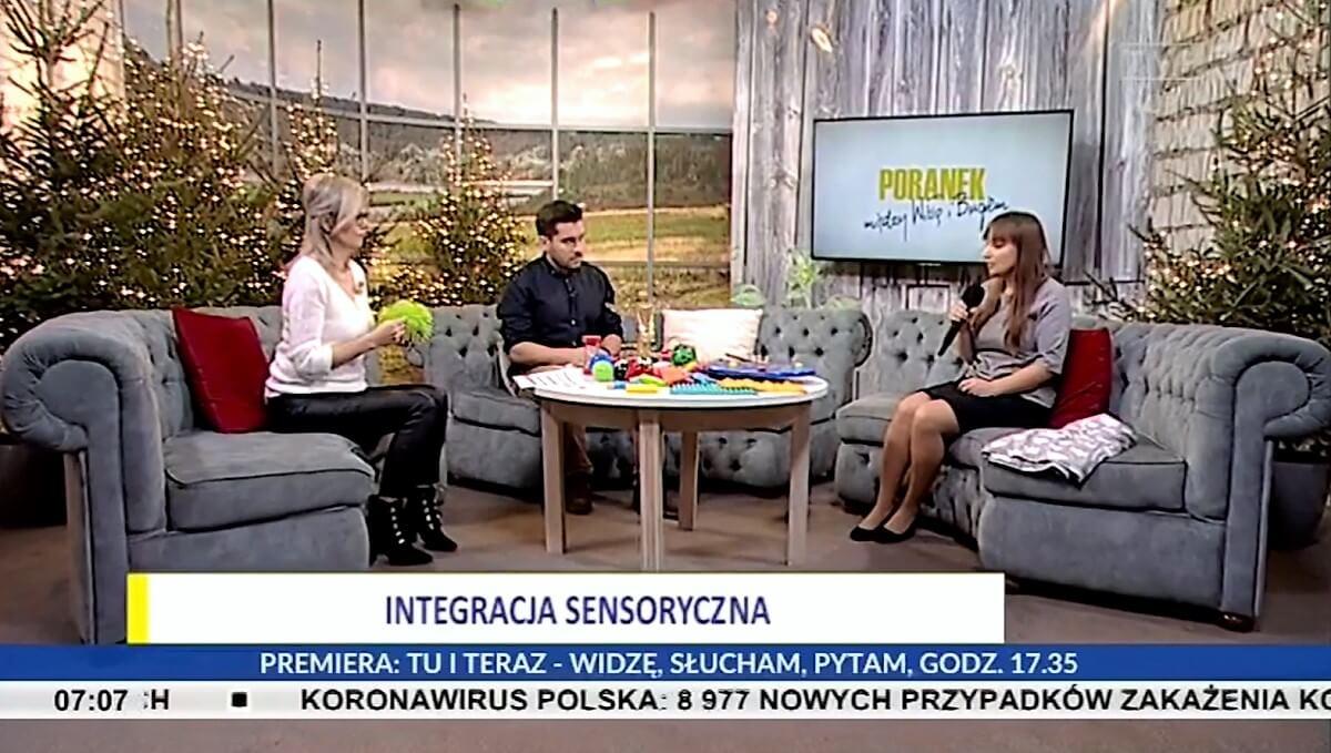 Rozmowa o integracji sensrycznej w programie w TVP 3 Lublin