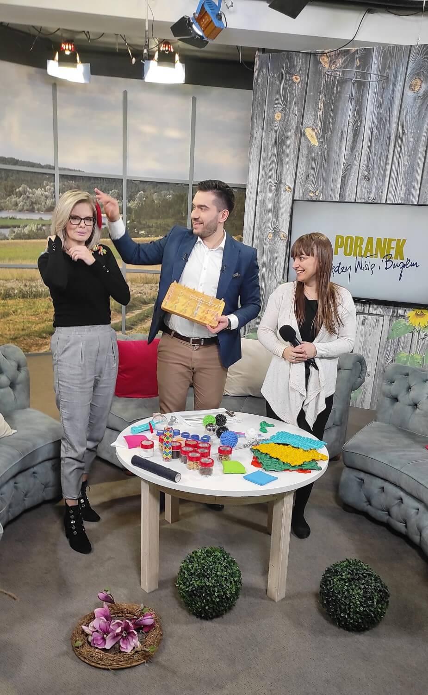 Aleksandra Kawa w programie Poranek między Wisłą i Bugiem TVP3 Lublin 15 lutego 2021