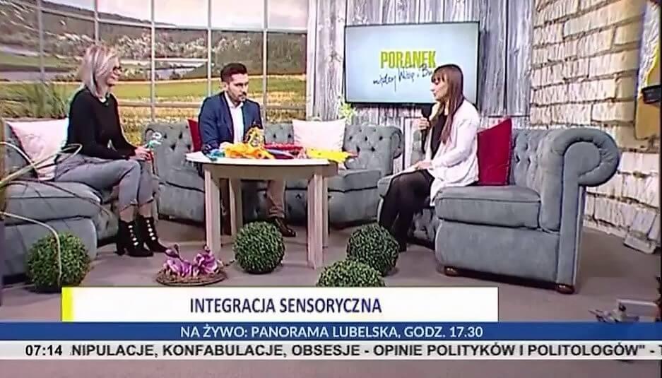 Aleksandra Kawa, rozmowa o diagnozie procesów integracji sensorycznej w TVP3 Lublin